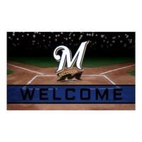 MLB Milwaukee Brewers Heavy Duty Crumb Rubber Door Mat