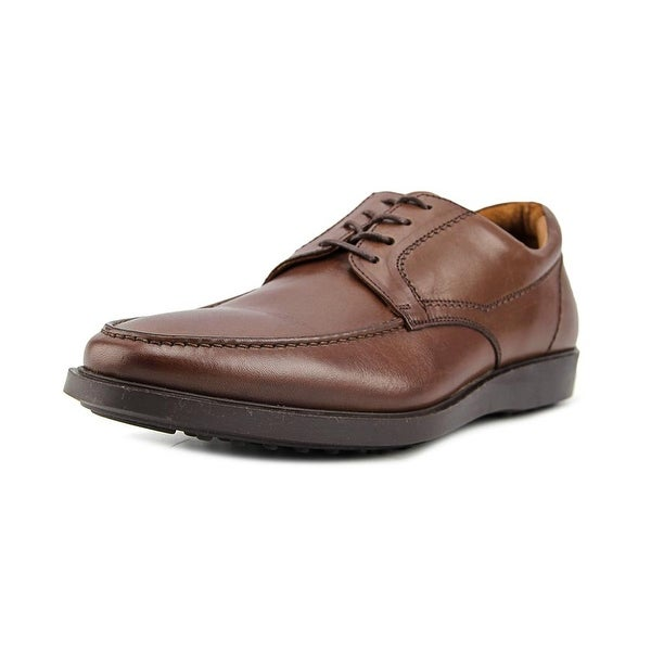 Mike Konos MT OX Men Moc Toe Leather Brown Oxford
