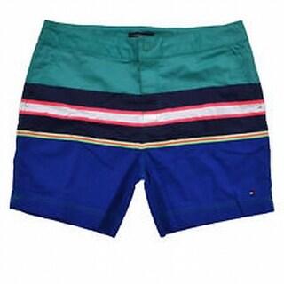 Tommy Hilfiger NEW Green Mens Size 2XL Board Shorts Colorblock Swimwear