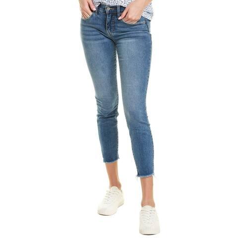 Lucky Brand Ava Powder Fray Skinny Jean