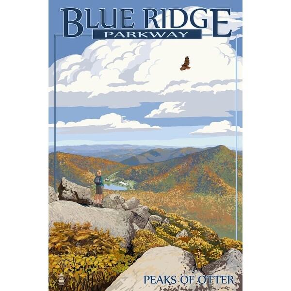 Blue Ridge Parkway Peaks of Otter Fall LP Artwork (100% Cotton Towel Absorbent)