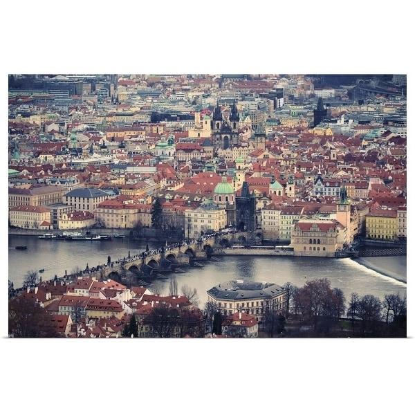 """Prague skyline city."" Poster Print"
