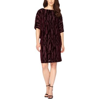 Tahari ASL Womens Cocktail Dress Velvet Burnout