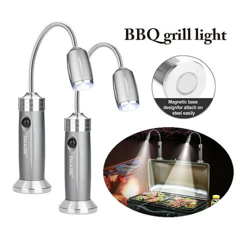 BBQ Grill Light Portable Adjustable LED Magnetic Base Barbecue Lamp Set - L