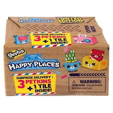 Shopkins Happy Places Delivery Pack Blind Box 3 Petkins & 1 Tile