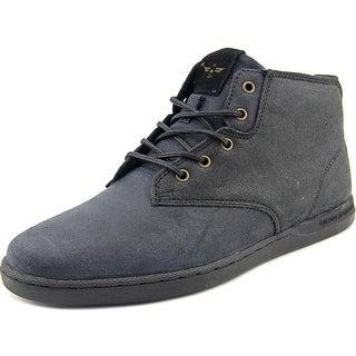 Creative Recreation Vito Men Round Toe Suede Black Sneakers