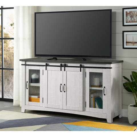 Hampton White and Grey TV Stand by Martin Svensson Home