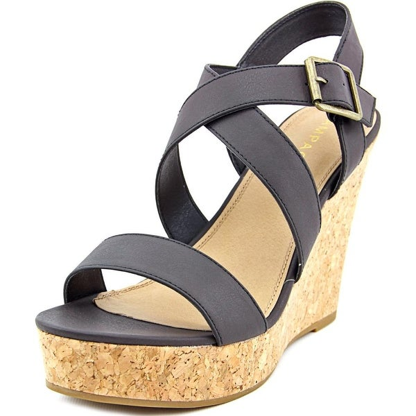 Rampage Happy Women Black Burnish Sandals