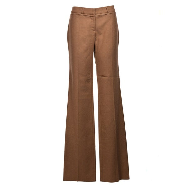 7863549da9 Shop Roberto Cavalli Brown Camel Wide Leg Straight Pants - Free ...