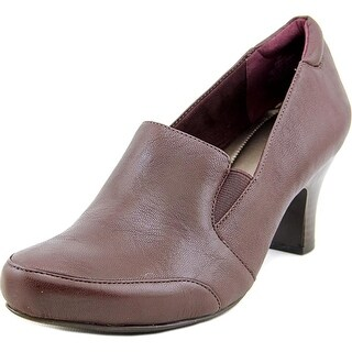 Easy Spirit Rica Women Round Toe Leather Purple Loafer