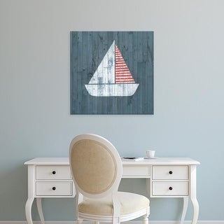 Easy Art Prints Grace Popp's 'Nautical Plank I' Premium Canvas Art