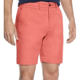 Tommy Hilfiger NEW Solid Pink Mens Size 35 Custom-Fit Chinos Shorts