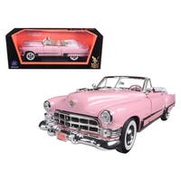 1949 Cadillac Coupe De Ville Convertible Pink 1/18 Diecast Model Car by Road Signature