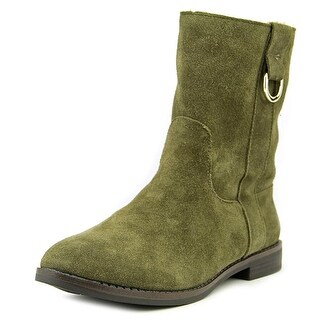 Alfani Anconna Women Round Toe Suede Green Ankle Boot