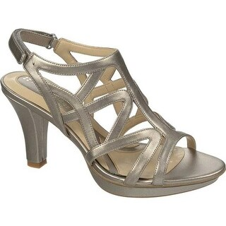 Naturalizer Women's Danya Sandal Pewter PU