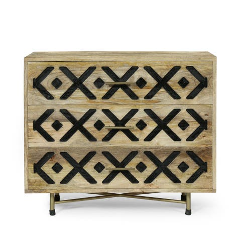 Westara Wood Handcrafted 3 Drawer Sideboard by Christopher Knight Home