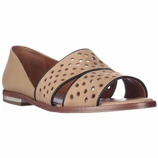 Rebecca Minkoff Sadie Peep Toe Perforated Flats - Tan