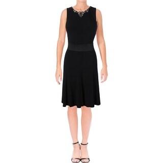 Lauren Ralph Lauren Womens Casual Dress Matte Jersey Jeweled