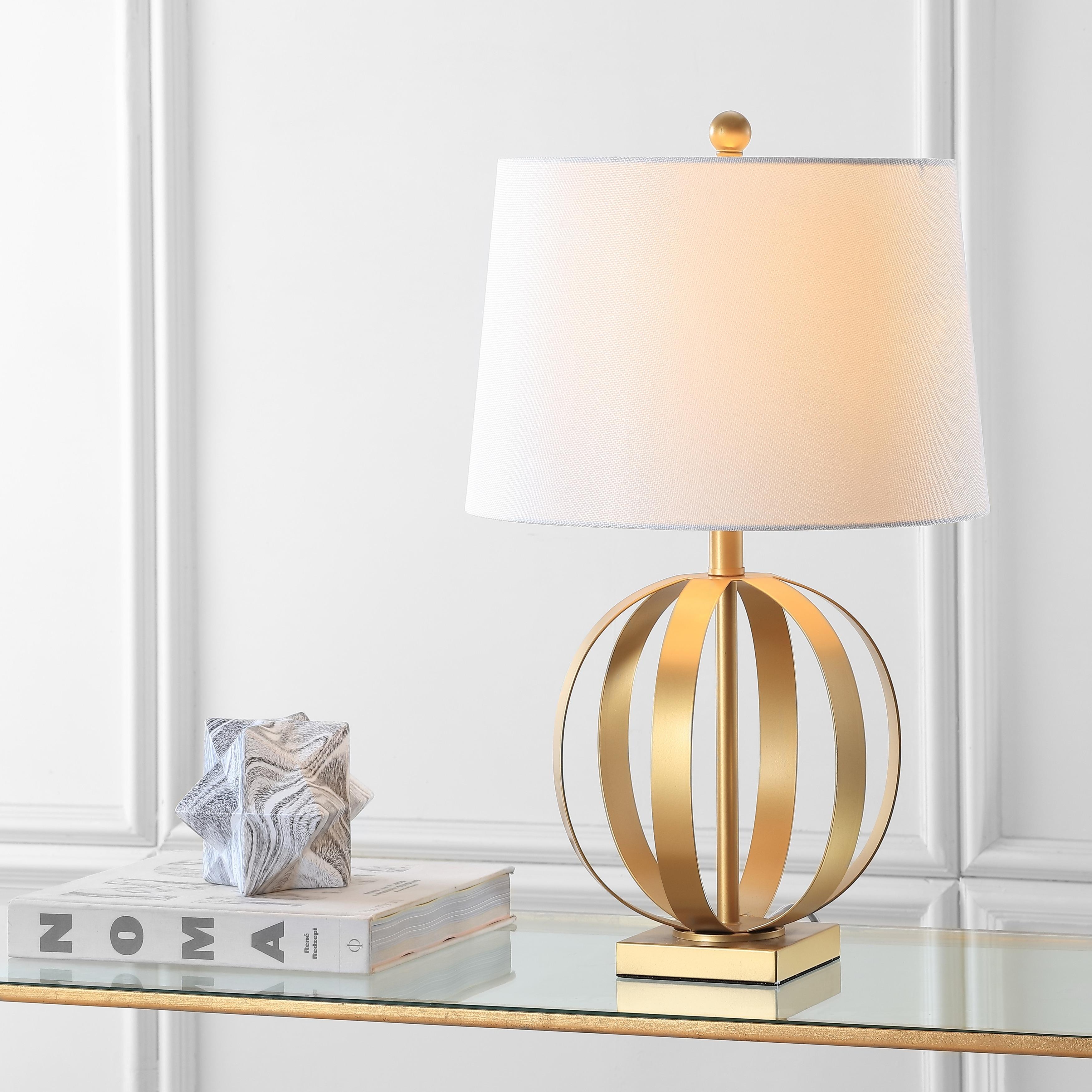 Safavieh Lighting 25 Inch Euginia Sphere Gold Table Lamp Set Of 2 15 X15 X24 5 Overstock 9527276