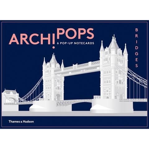W.W. Norton & Co. Archipops Bridges Pop-Up Cards - Set of 6 Greeting Cards - Blue