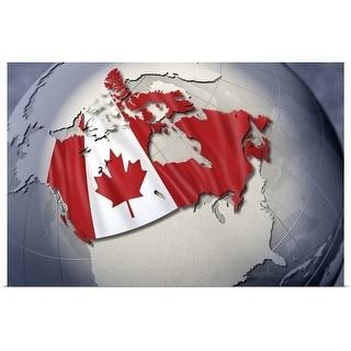 """Digital Composite, flag of Canada"" Poster Print"