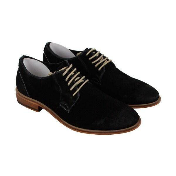 Steve Madden Tasken Mens Black Suede Casual Dress Lace Up Oxfords Shoes
