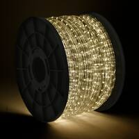 Onebigoutlet 300' FEET, (WARM WHITE) LED Rope Light, CE & UL Listed
