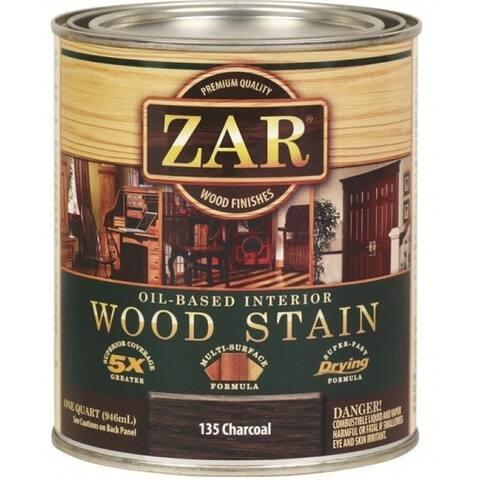 Zar 13512 Oil Based Wood Stain, 1 Quart, Charcoal