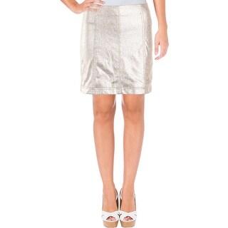 Free People Womens Mini Skirt Mettalic Night Out