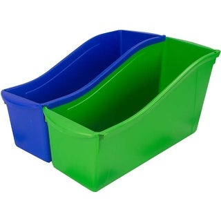 """Assorted Colors - Storex Large Book Bin 14.3""""X5.3""""X7"""" (6/Pack)"""
