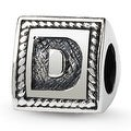 Sterling Silver Reflections Letter D Triangle Block Bead (4mm Diameter Hole) - Thumbnail 0