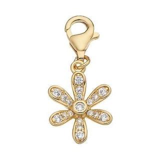 Julieta Jewelry Flower CZ Clip-On Charm