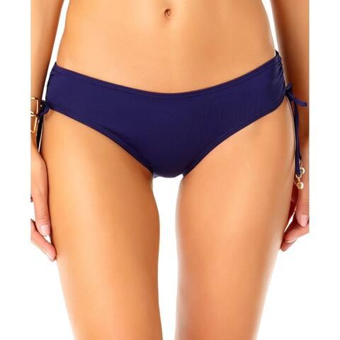 Anne Cole Womens Side Tie Hipster Bikini Swim Bottom