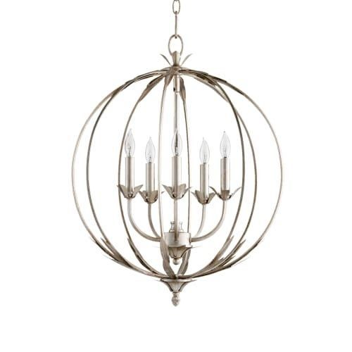 "Quorum International 6372-5 Flora 5 Light 20"" Wide Globe Style Chandelier"