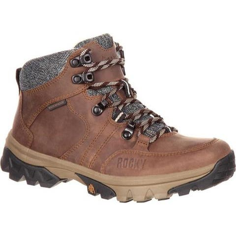 "Rocky Women's 5"" Endeavor Point Waterproof Outdoor Boot Brown Full Grain Leather"