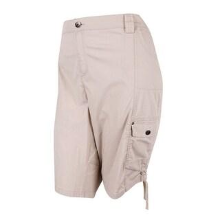 Style & Co. Women's Tummy Control Cargo Shorts (24W, Stonewall) - stonewall - 24W
