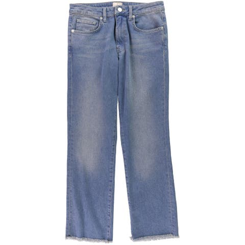 French Connection Womens Cropped Regular Fit Jeans, Blue, 8