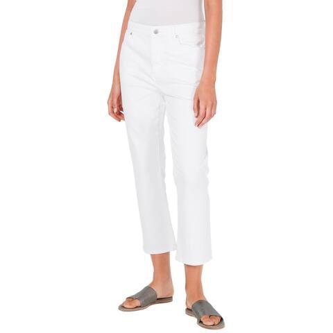 Eileen Fisher Womens Bootcut Jeans Organic Cotton Denim - White - 10