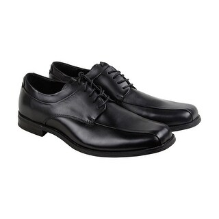 Calvin Klein Horatio Dress Calf Mens Black Leather Casual Dress Oxfords Shoes