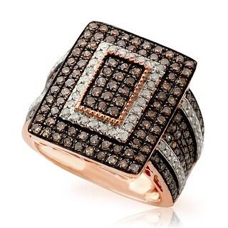 Prism Jewel 2.00 Carat Brown Natural Diamond & Natural Diamond Ring - White I-J