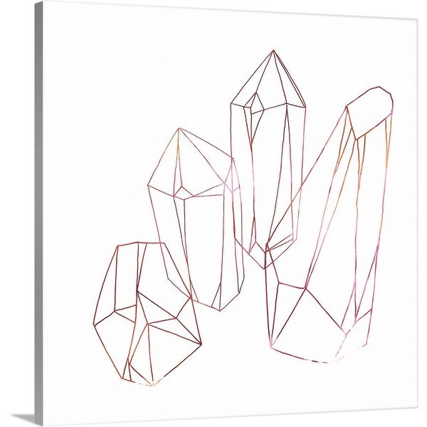 June Erica Vess Solid-Faced Canvas Print entitled Contour Crystals III