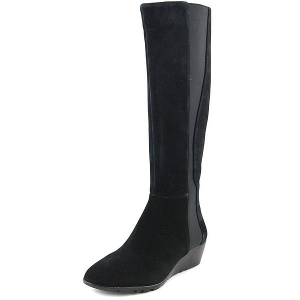 Bandolino Aamori Women Round Toe Suede Black Knee High Boot