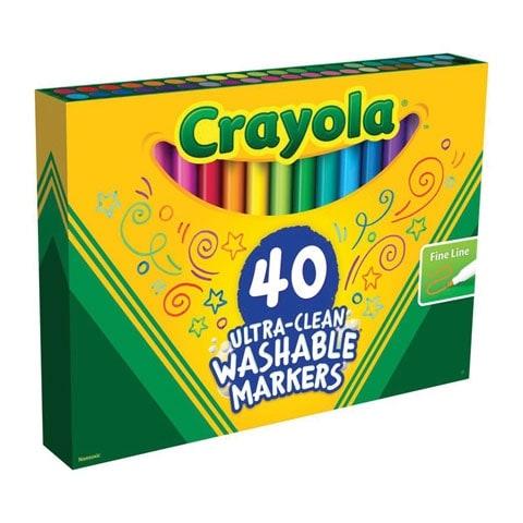 Crayola - Ultra-Clean Washable Marker Set - 40-Marker Set - Fine