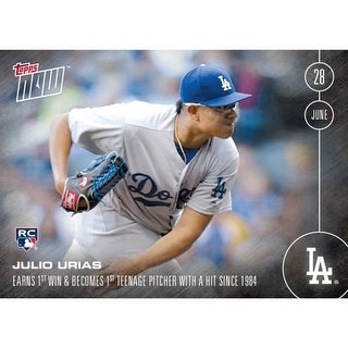 LA Dodgers, Julio Urias (RC) MLB 2016 Topps NOW Card 190 - multi