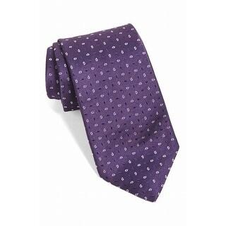 John Varvatos Purple Star USA Paisley Men's Silk Neck Tie Accessory