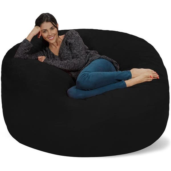 Bean Bag Chair 5 Foot Memory Foam Removable Cover Bean Bags On Sale Overstock 8486912