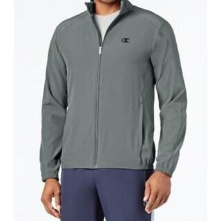 Champion NEW Steal Gray Mens Size Medium M Full Zip Mock-Neck Sweater