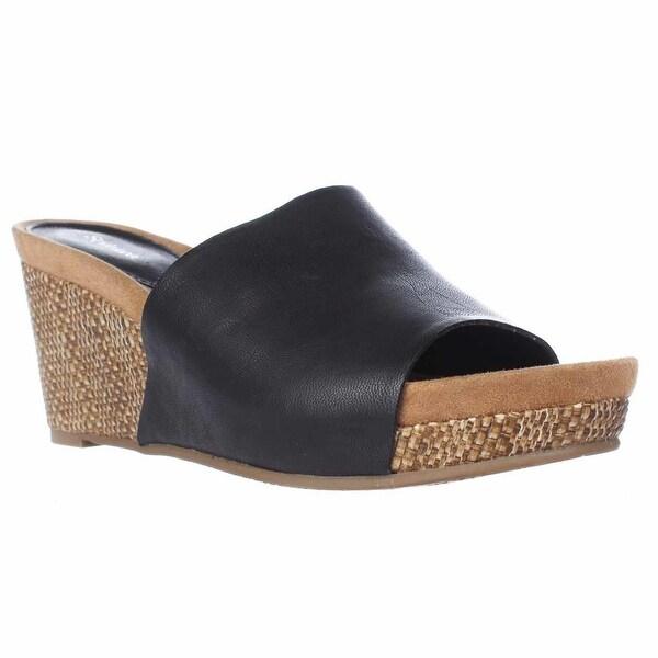 SC35 Jackeyy Slide Mule Sandals, Black