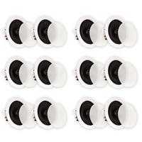 Theater Solutions TS50C In Ceiling Speakers Home Theater Surround 6 Pair Pack