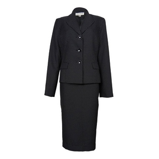 Evan Picone Women's City Chick Polka Dot Skirt Suit